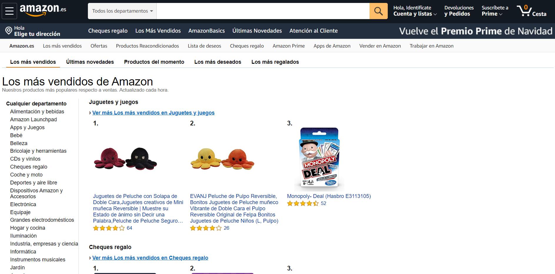 dentro de los más vendidos de Amazon